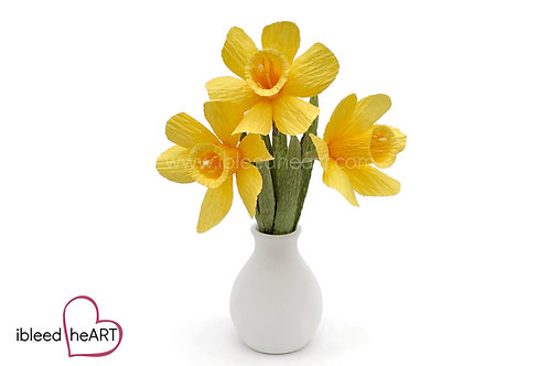 3 Daffodils in a Vase