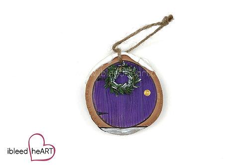 Purple Door with Wreath
