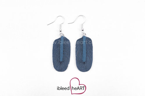 Gray Blue Oval Shape - #154