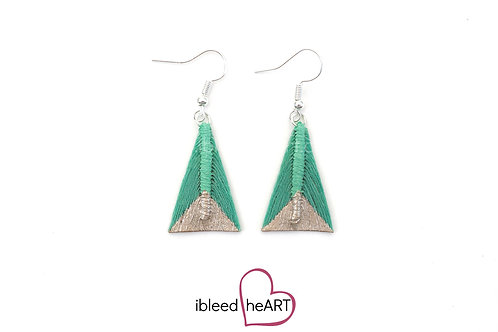 Rose Gold Dipped Green Triangle Shape - #tr13