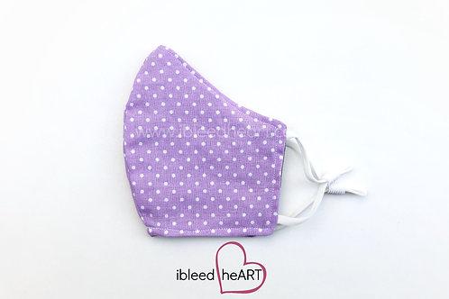 Purple Polka Dots Washable Face Mask - Small