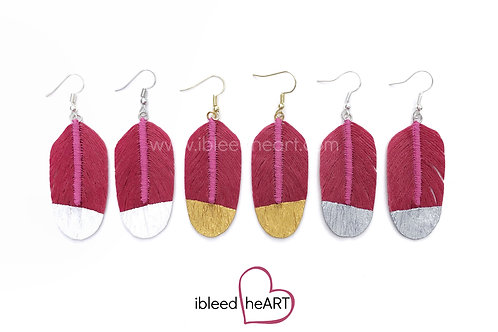 Soft Pink Feather Earrings