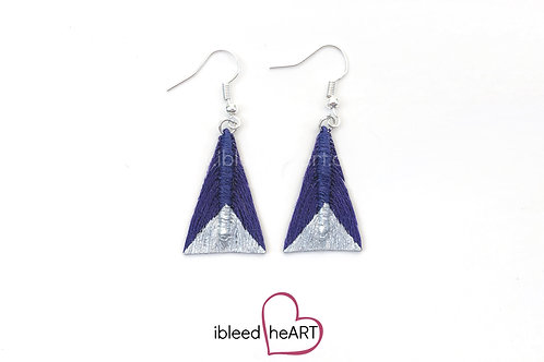 Silver Dipped Purple Triangle Shape - #tr20