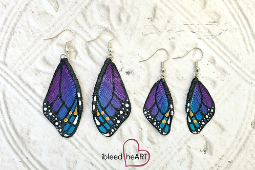 Starry Monarch Wing Earrings