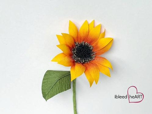 Mini Sunflower Stem - Single