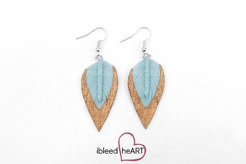 Copper Dipped Blue Teardrop Shape - #189
