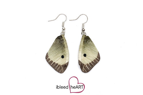 Clouded Sulphur Butterfly Wing Earrings