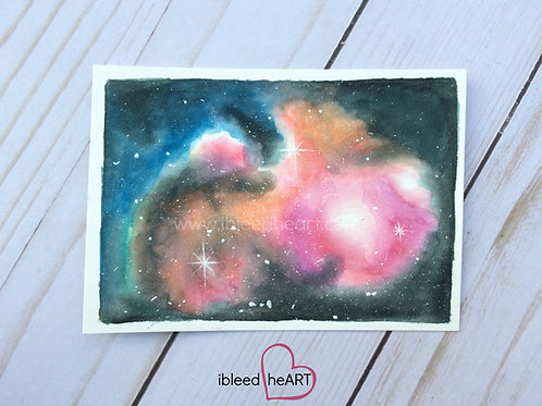 Colorful Galaxy Painting
