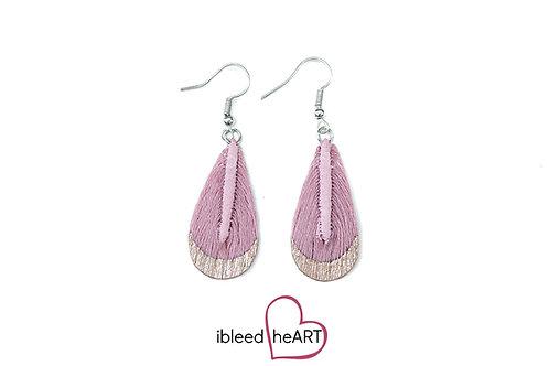 Rose Gold Dipped Pink Teardrop Shape - #t50