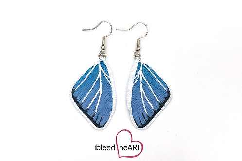 Eastern Tailed Blue Butterfly Wing Earrings