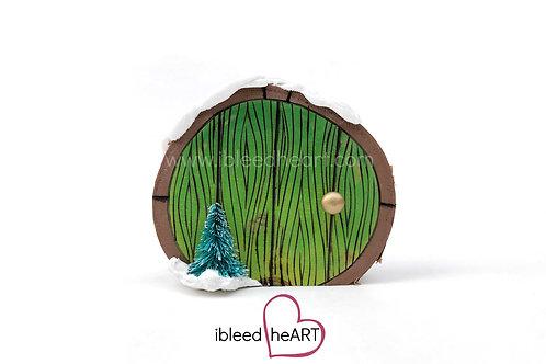 Green Door with Tree - Shelf Sitter