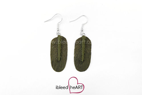 Dark Green Oval Shape - #245