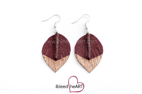 Copper Dipped Red Brown Short Teardrop Shape - #111
