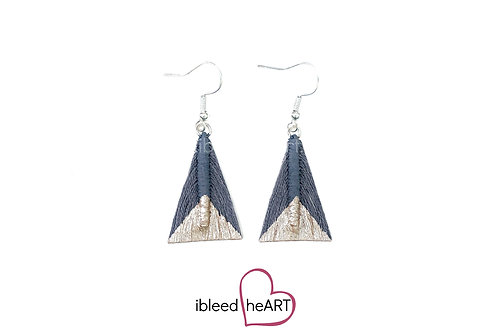 Rose Gold Dipped Gray Triangle Shape - #tr51
