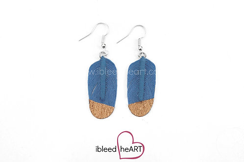 Copper Dipped Blue Oval Shape - #163