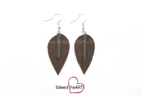 Brown Teardrop Shape - #305