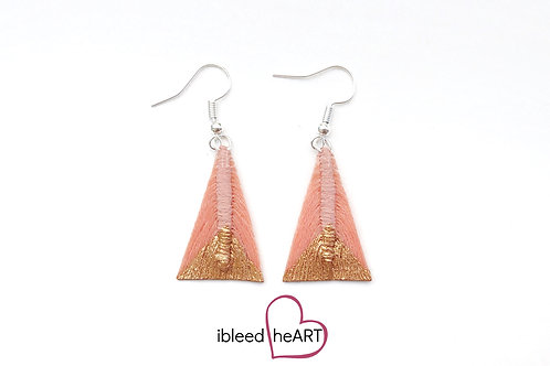 Copper Dipped Light Coral Triangle Shape - #tr4