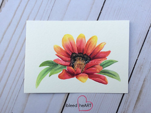 Red and Yellow Daisy Painting