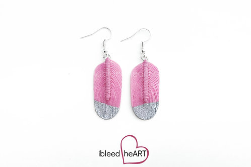 Silver Dipped Pink Oval Shape - #88
