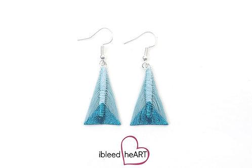 Metallic Blue Dipped Light Blue Triangle Shape - #tr16