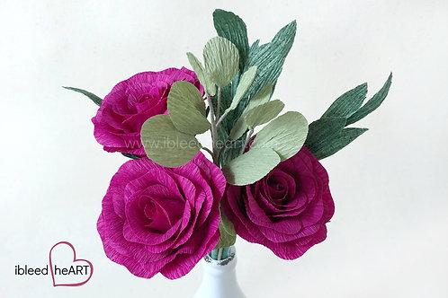 Fuchsia Rose Bouquet