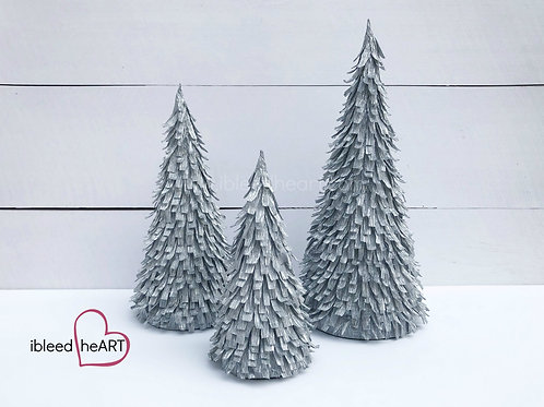 Silver Paper Trees - Single