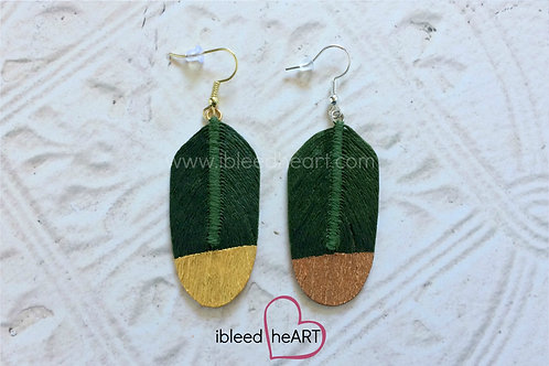 Evergreen Feather Earrings