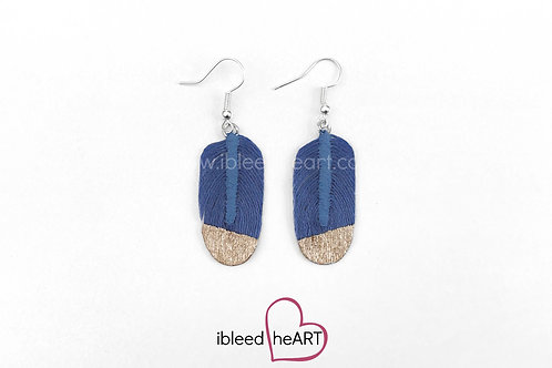 Rose Gold Dipped Blue Oval Shape - #156