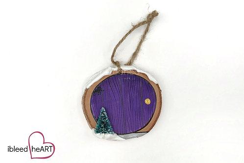 Purple Door with Tree