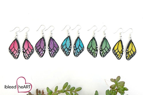 Colorful Monarch Wing Earrings