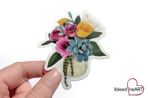 Cari's Bouquet Sticker