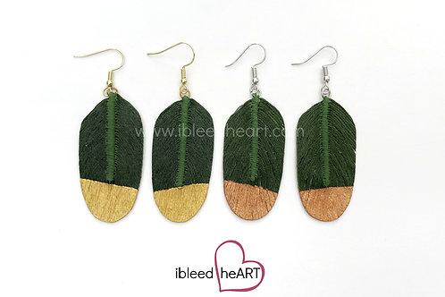 Evergreen Feather Earrings