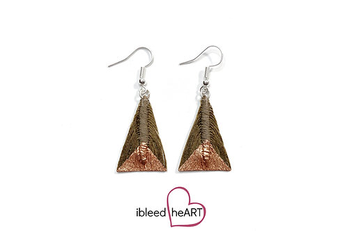 Copper Dipped Brown Triangle Shape - #tr28