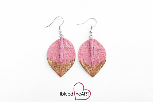 Copper Dipped Pink Short Teardrop Shape - #80