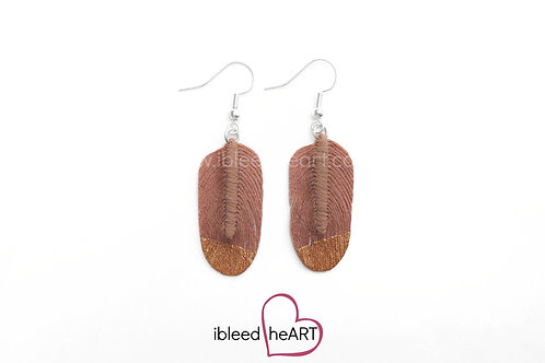 Copper Dipped Pale Brown Oval Shape - #54