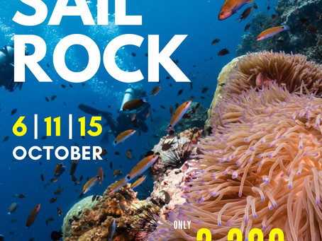 Sail Rock this 6th, 11th & 15th of October!