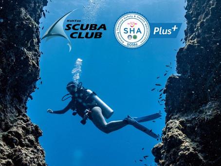 Koh Tao Scuba Club Officially SHA+ Certified!