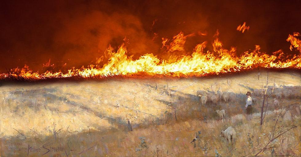 Firestorm_Arthur_Streeton_Golden_summer_