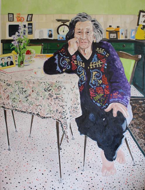 Maria from next door  |  Oil on canvas 152 x 115cm  |  2016 Semi Finalist Doug Moran National Portrait Prize, SydneyAustralia
