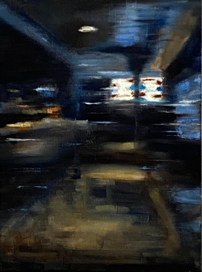 Night Barber 30x40cm Oil on canvas