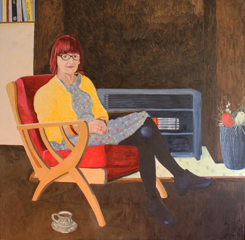 Yvonne and a cup of tea  |  Oil on canvas  |  160x160cm Finalist Black Swan Portrait Prize, Art Gallery of Western Australia2016 
