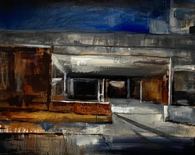 The carpark 40x50cm Oil on canvas