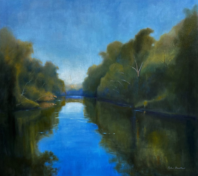 Morning on the swan 72x90cm Oil on canvas