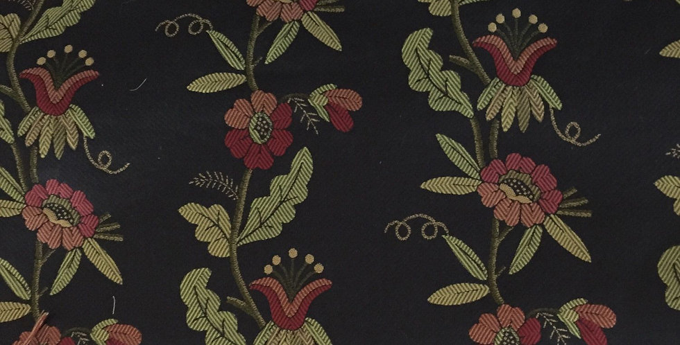 Vining Red, Gold, and Green Floral