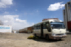 Mobile drop-in bus for the homeless Ulaanbaatar