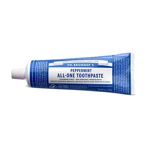 Dr. Bronner's Pepperment Toothpaste - Travel Size