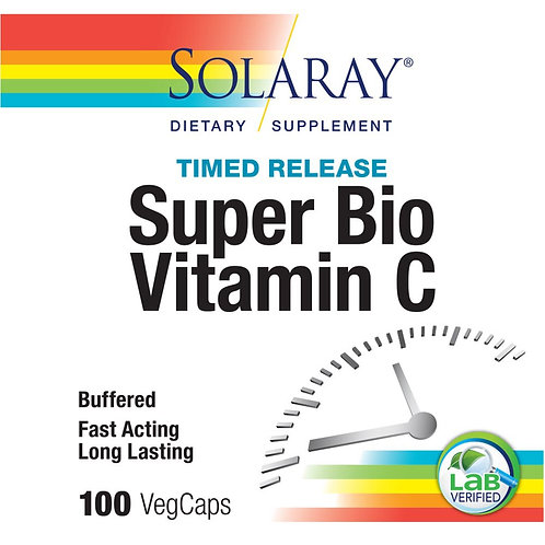 Solaray Super Bio C Buffered Vitamin C with Bioflavonoid with Formula 100CT
