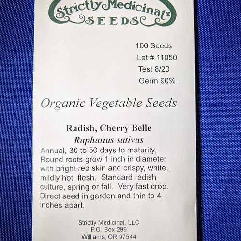 Radish, Cherry Belle (Raphanus sativus), packet of 100 seeds, Organic