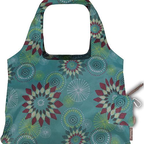 ChicoBag Aqua Dandelion Solstice Designer Reusable Tote Bag