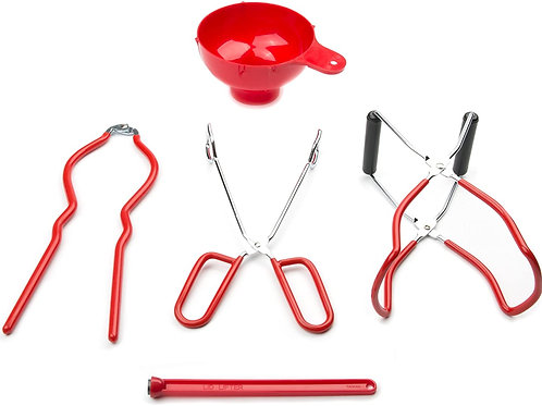 Fox Run Home Canning Tool Set 5-Piece Red